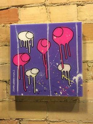 "Image of Raining Cows, ""FLAMINGO SUNRISE"" 10""X10"""