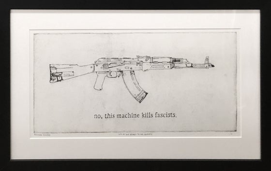 """Image of """"With all due respect to Mr. Guthrie"""" intaglio, etching, edition of 30"""