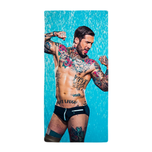 "Image of Alex Minsky ""Shower"" Beach Towel"