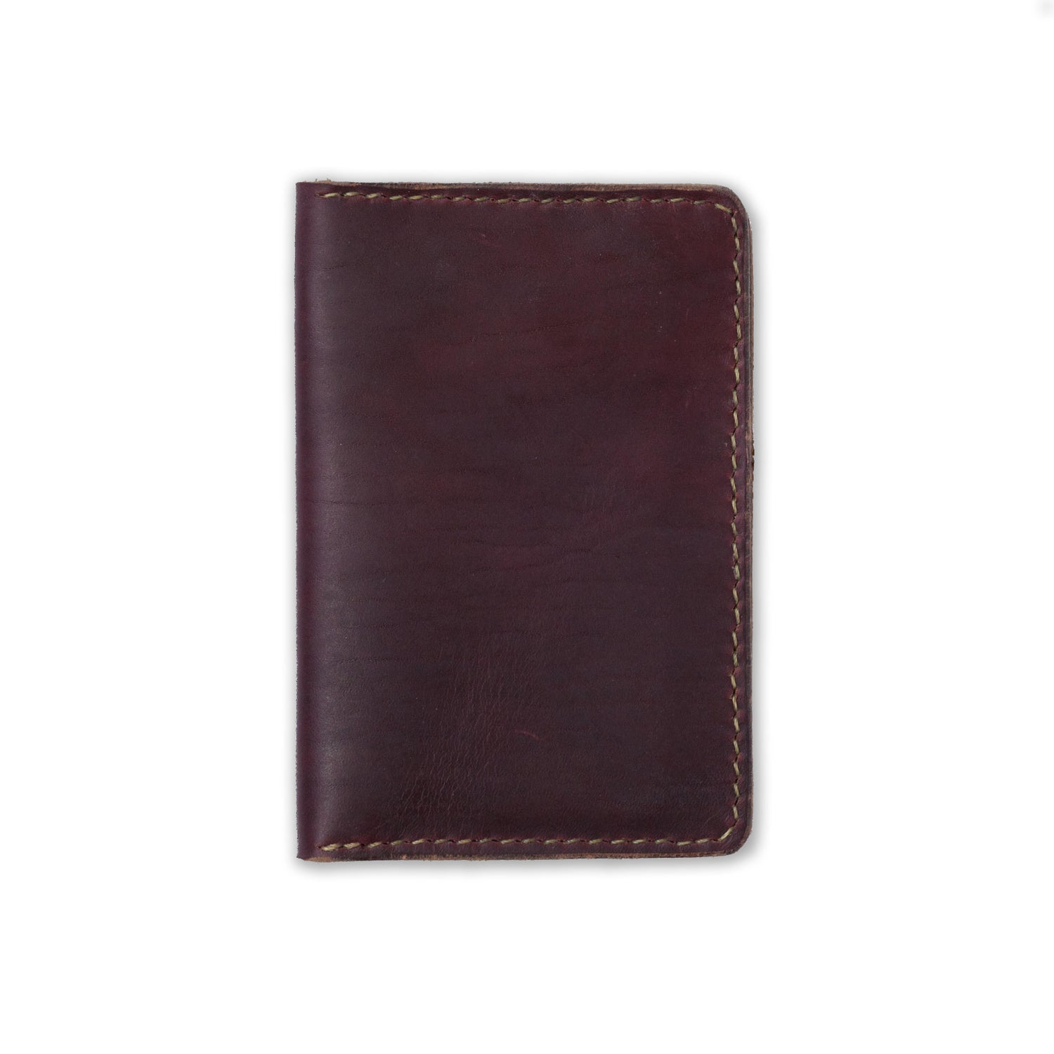 Image of Oxblood Notebook Wallet