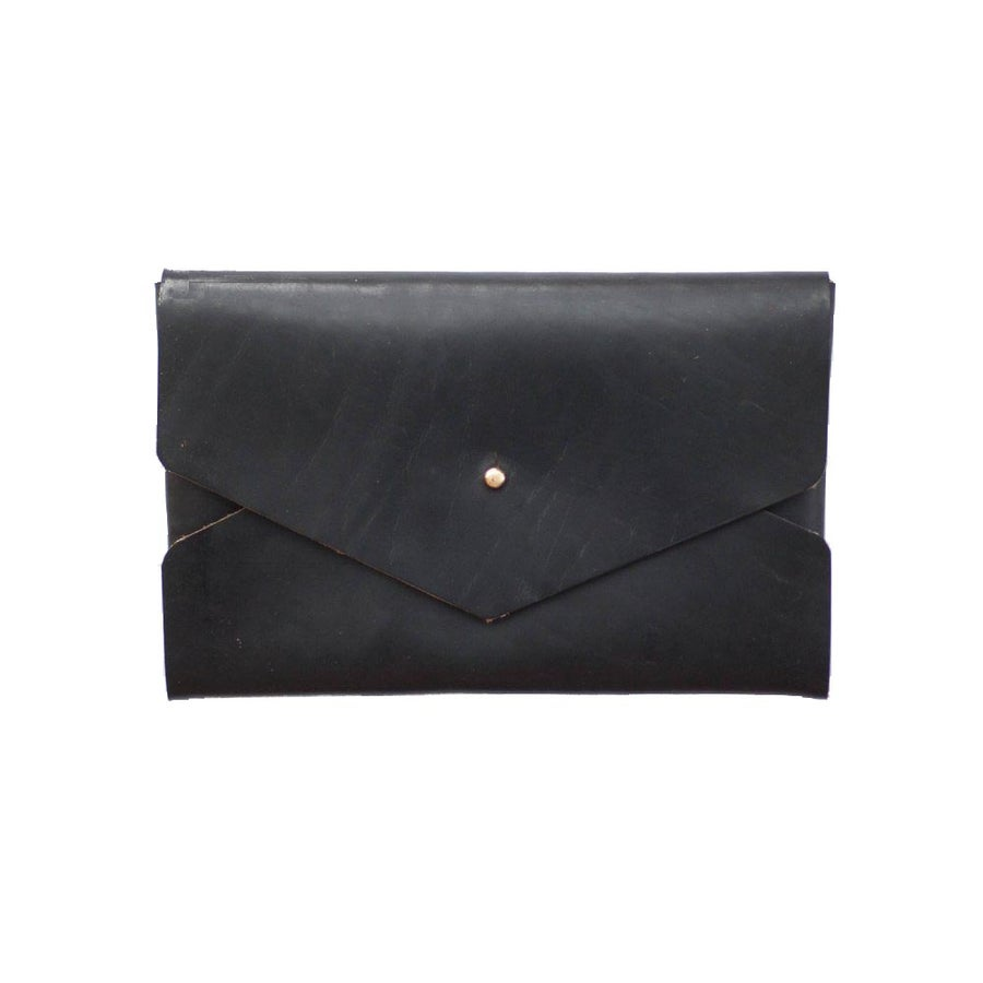 Image of Black Horween Chromexcel Envelope Clutch