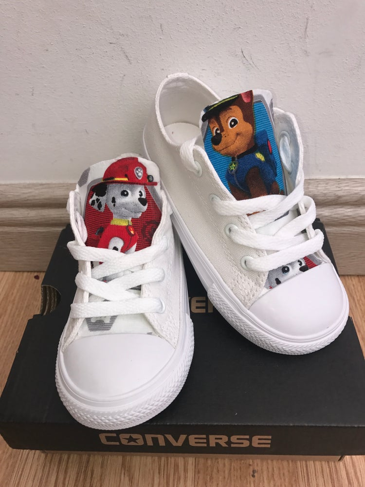 Image of All white paw patrol converse
