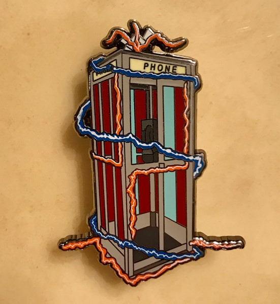 Image of Bill & Ted's Excellent Phone Booth Pin