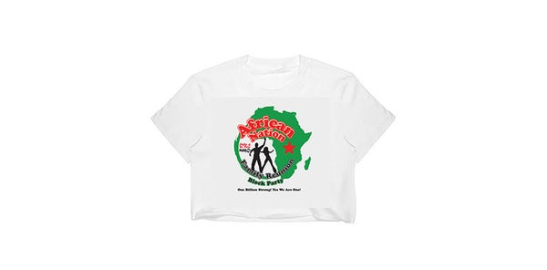 Image of African Nation Family Reunion Block Party - crop top