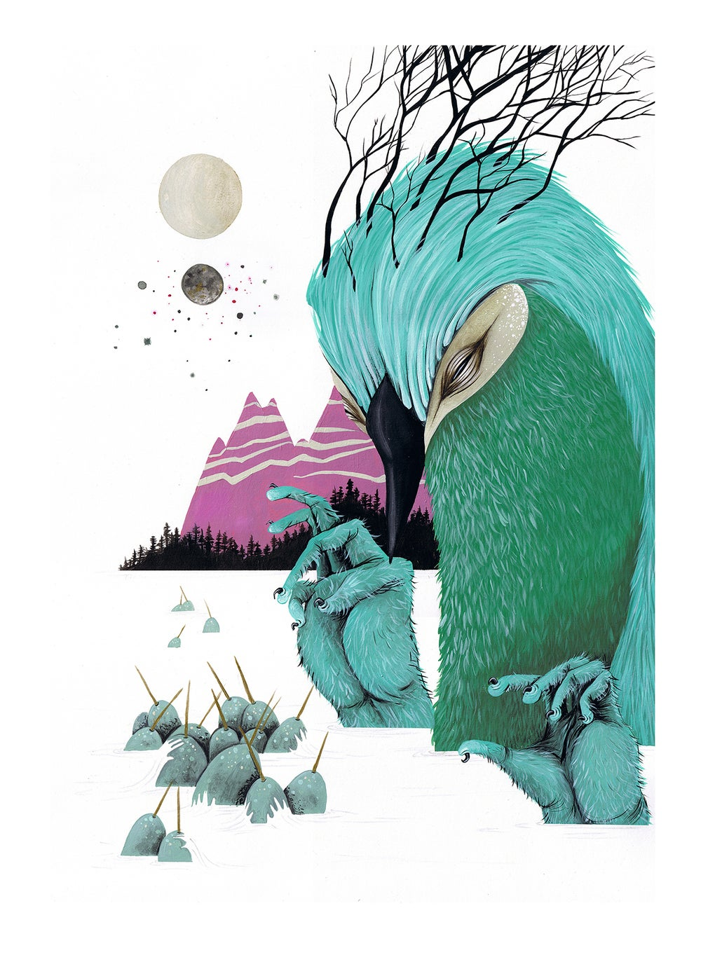 Image of NARWHAL PICKLER + PICKLED NARWHAL // LIMITED EDITION GICLEE PRINT