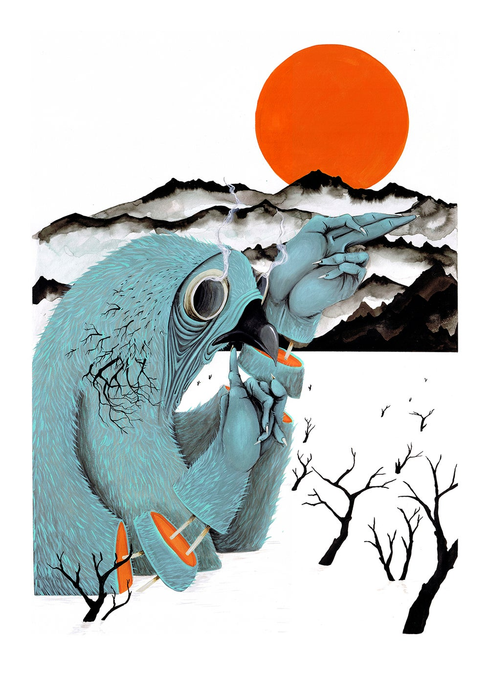 Image of JUST TO SAY HI // LIMITED EDITION GICLEE PRINT