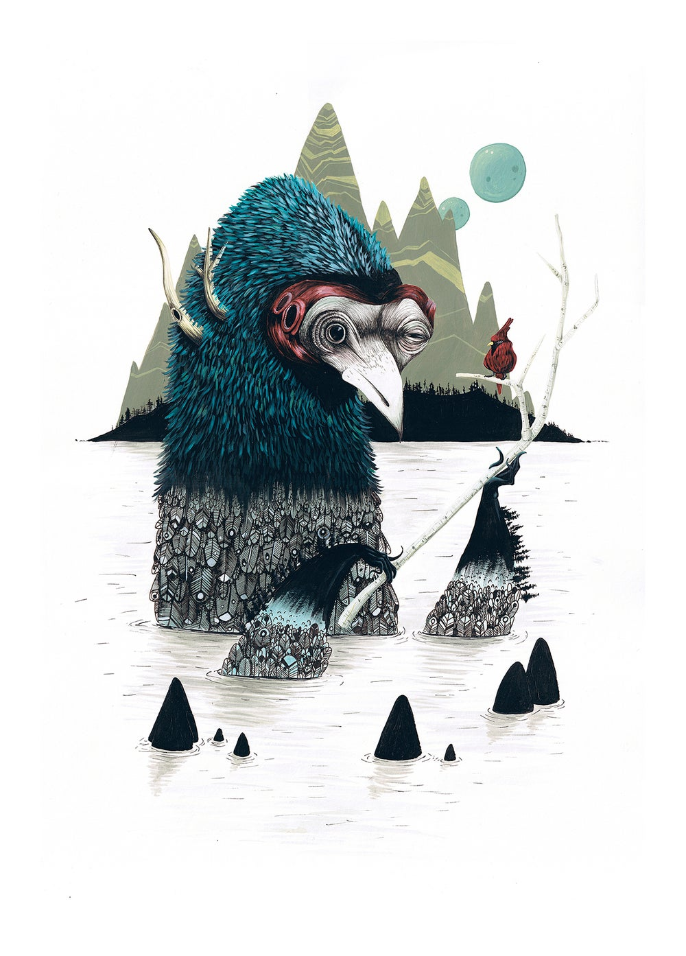 Image of I CAN'T HEAR YOU // LIMITED EDITION GICLEE PRINT