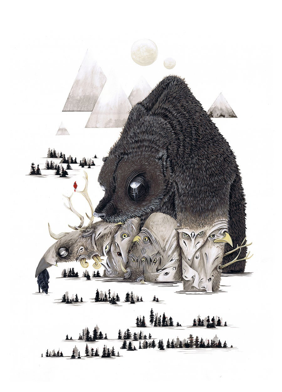 Image of CREATURE HOARDER // LIMITED EDITION GIGLEE PRINT