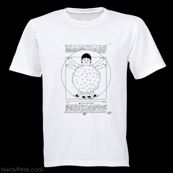 "Image of ""Vitruvian Bun"" Screen Printed Tee - FREE U.S. SHIPPING!"