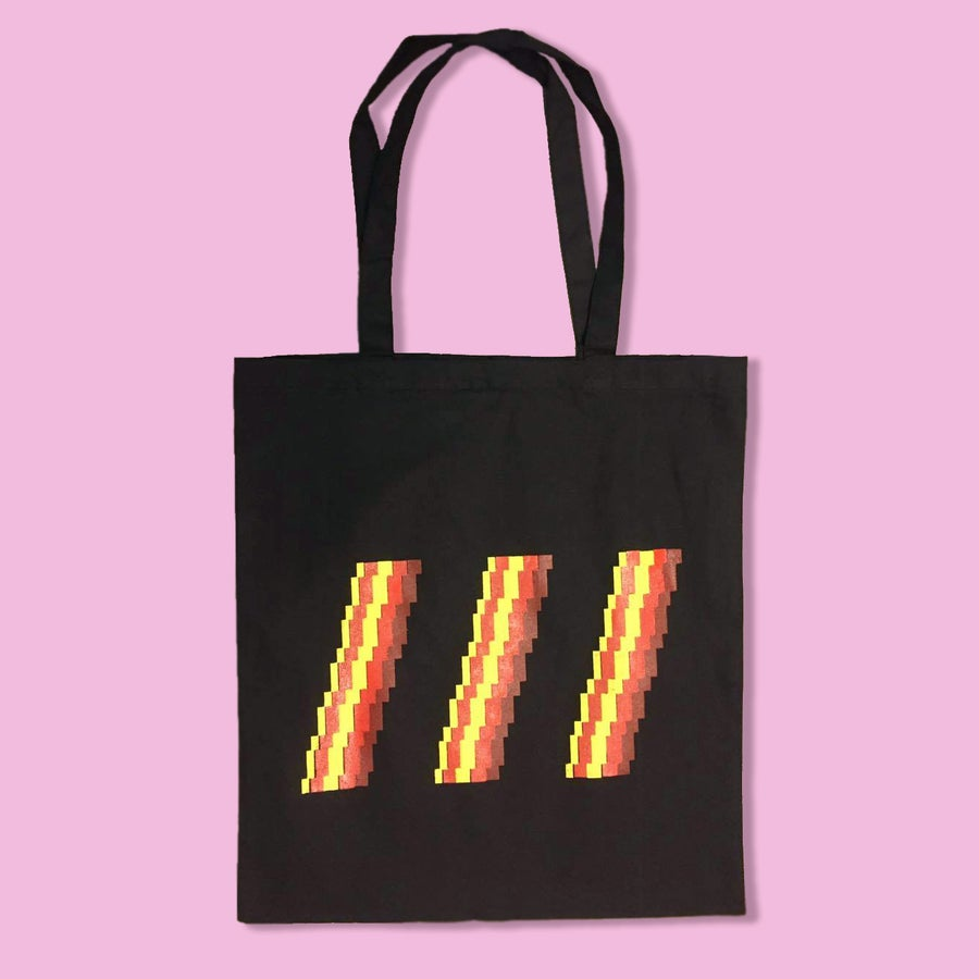 Image of 8-Bit Bacon Tote Bags (More Colors)