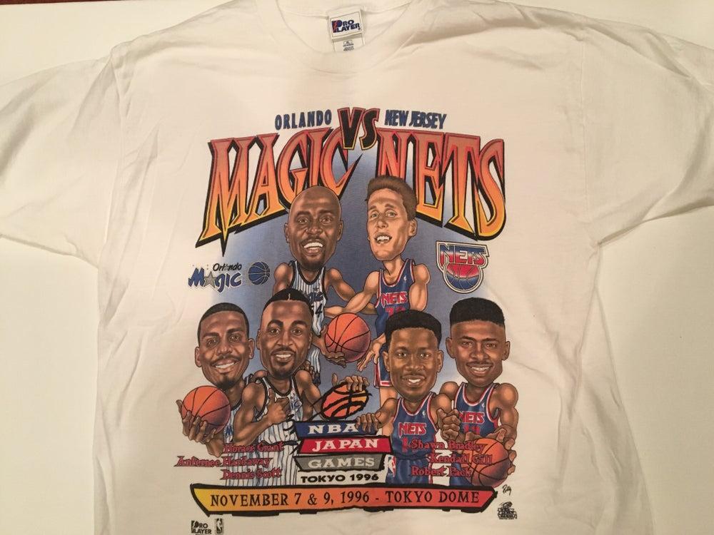 Image of Vintage NBA Tee   Magic vs Nets   1996