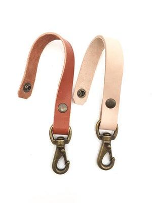 Image of Sturdy Honey, Black, Nude or Cognac Colored Leather Belt Key Loop