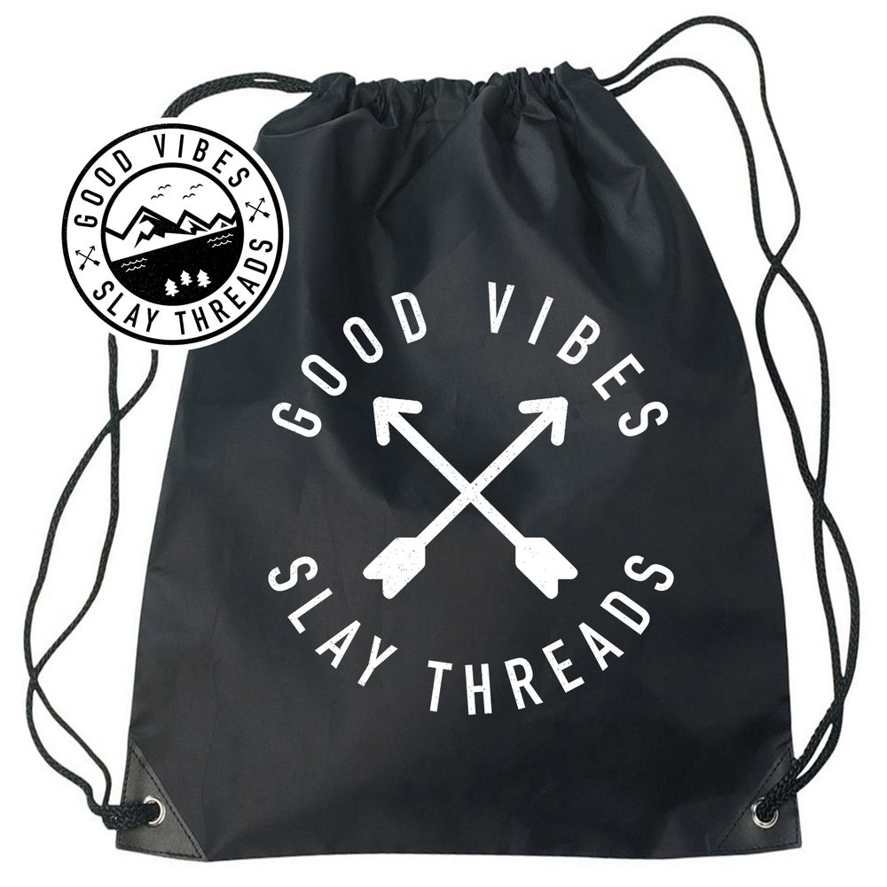 Image of Good Vibes Drawstring Bags