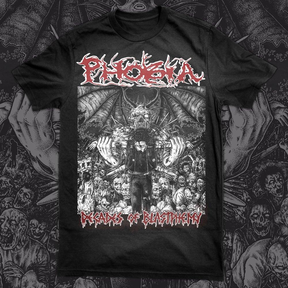 Image of PHOBIA decades of blastphemy Tshirt