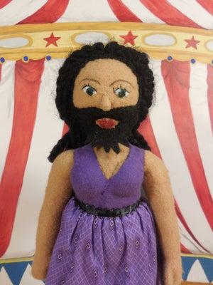 Image of Bearded Lady plush doll
