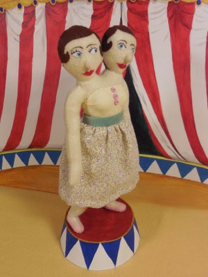 Image of Siamese Twins plush doll