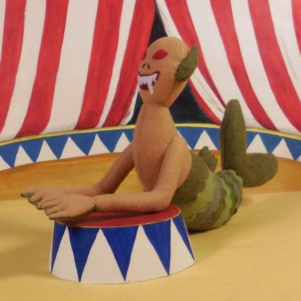 Image of Fiji Mermaid, handmade plush toy