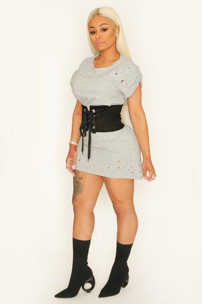 Image of Modesty Tee & Burlesque Corset