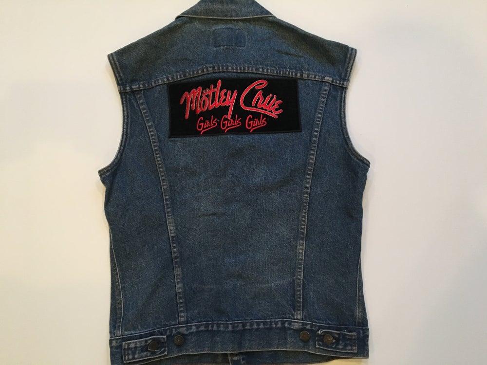Image of Vintage Motley Crue Jean Jacket Vest