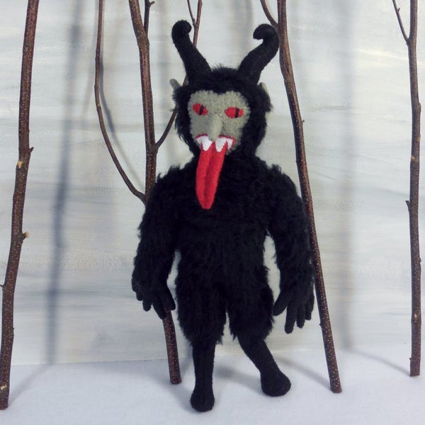 Image of Furry Krampus plush toy