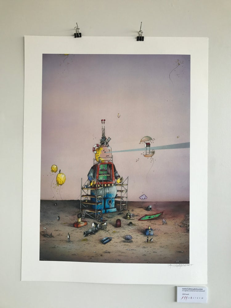 Image of Limited edition glitche print . Lego