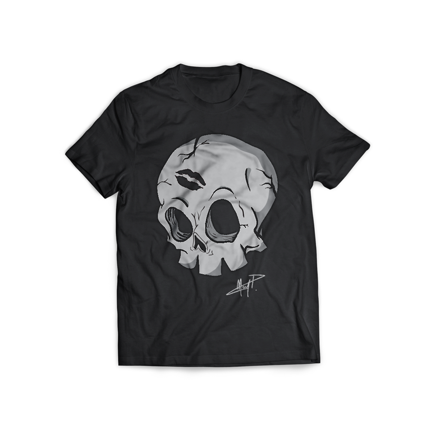 Image of T-SHIRT 'UN BACIO' (BLACK)