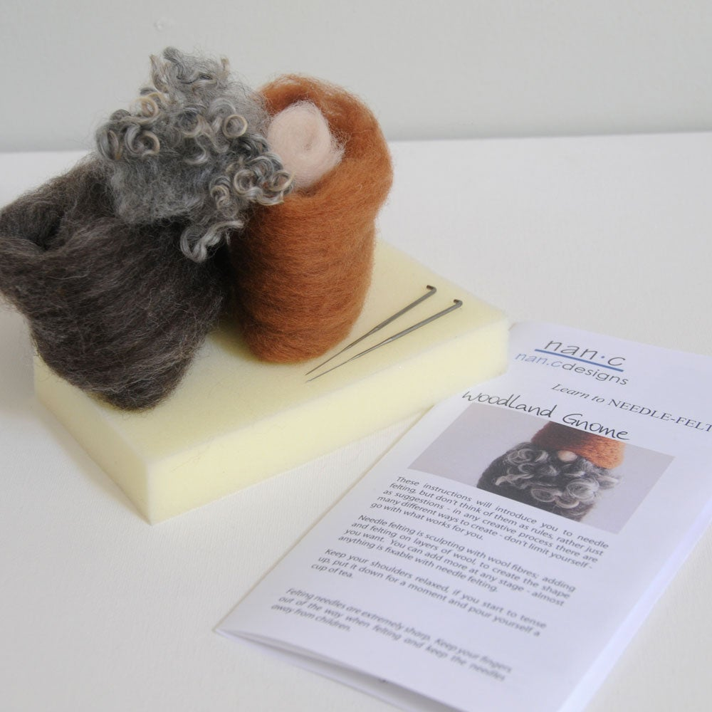 Image of Woodland Gnome - Needle Felting Kit