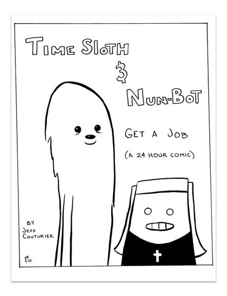 Image of Time Sloth & Nun-Bot, 24 Hour Comic
