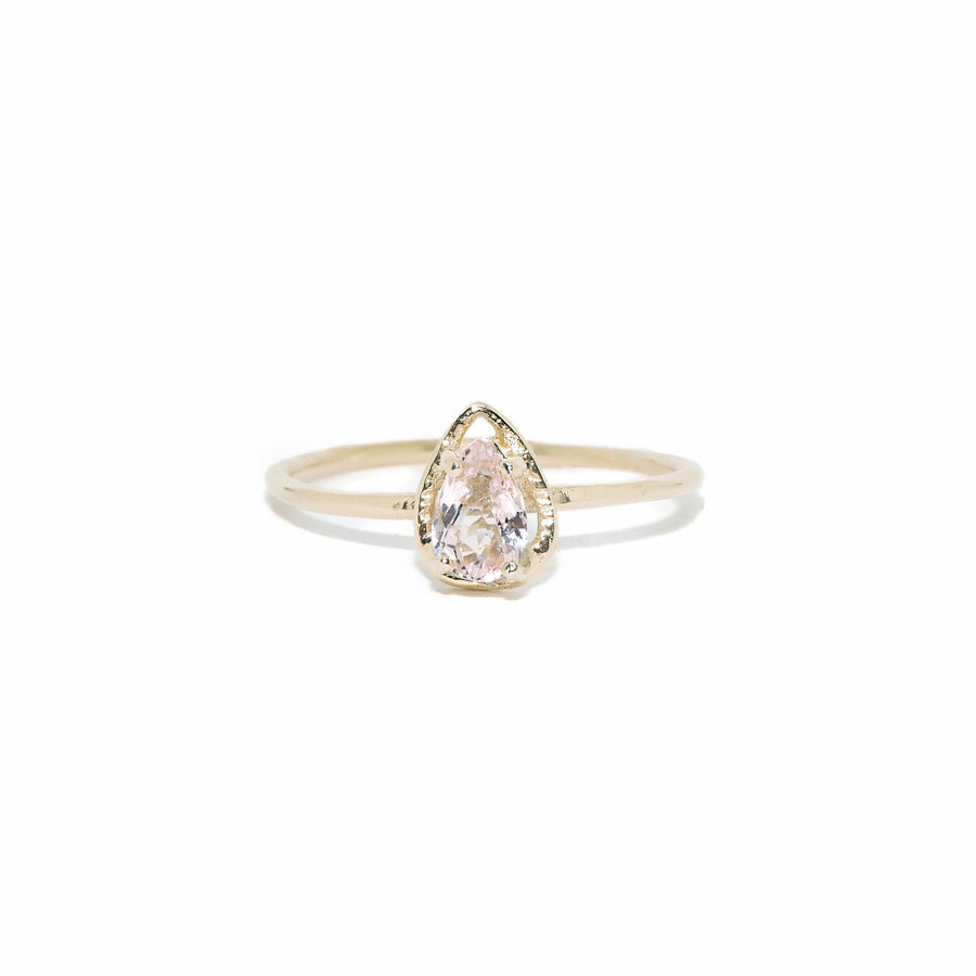 Image of morganite pear ring
