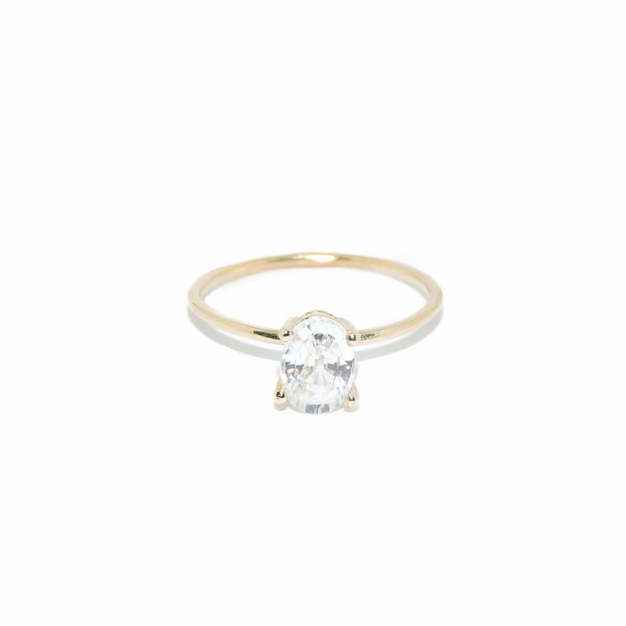 Image of zircon oval solitaire