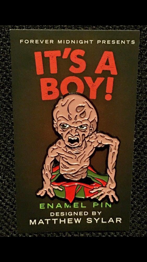 "Image of ""It's a Boy"" Enamel Pin"