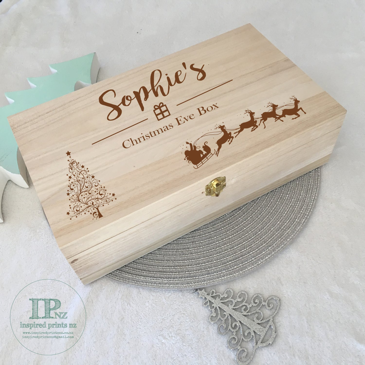 Image of DUE END OF MARCH Keepsake Box Hinged Lid & Latch