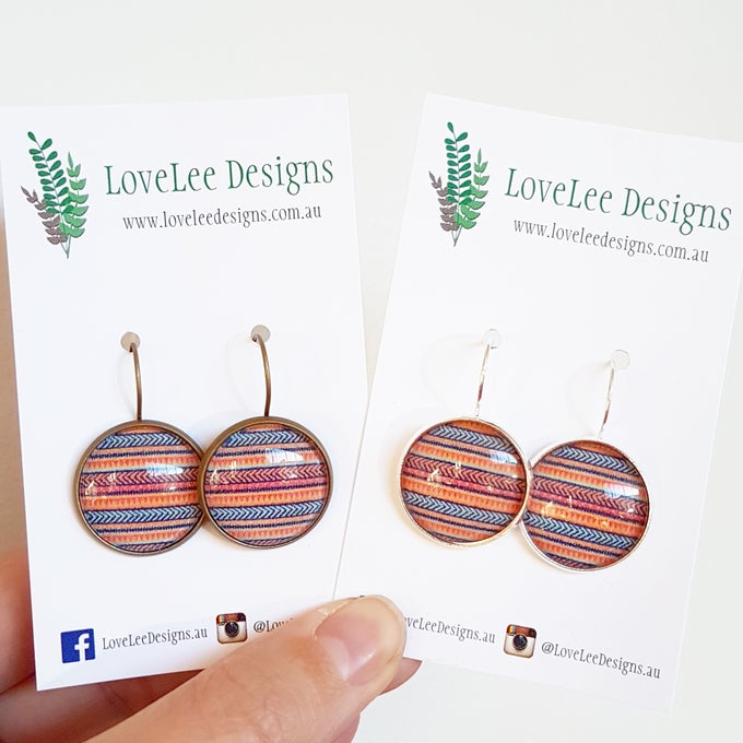 Image of NEW! Earrings - Tribal Stripes