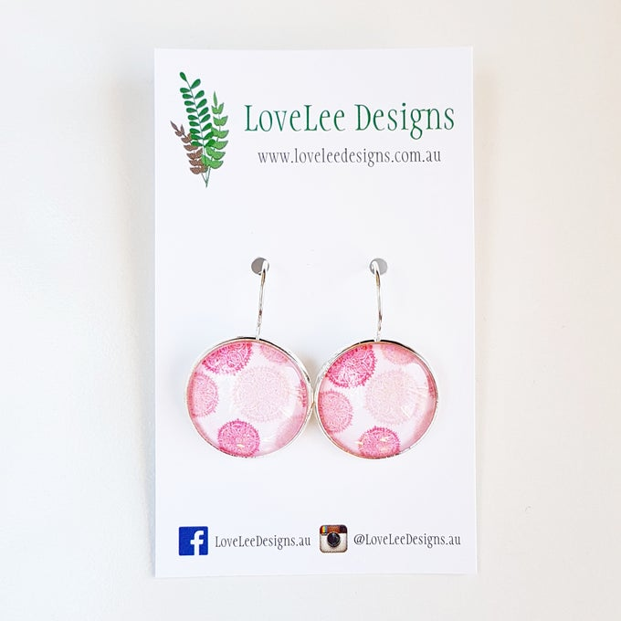 Image of NEW! Earrings - Pink Mandalas