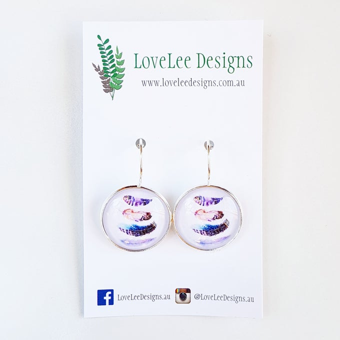 Image of NEW! Earrings - Floating Feathers