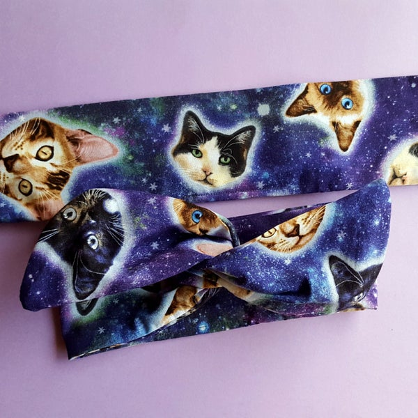 Galaxy Cats Wire Headband - According To Alana Pin Up Wire Headbands and Matchy Accessories