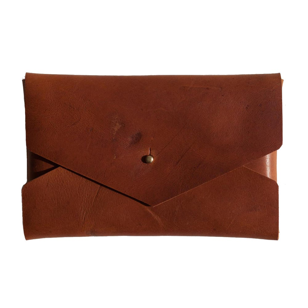 Image of Cognac Envelope Clutch