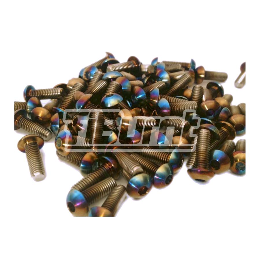 Image of TiBurnt Titanium Over Fender Screws (Button Head)