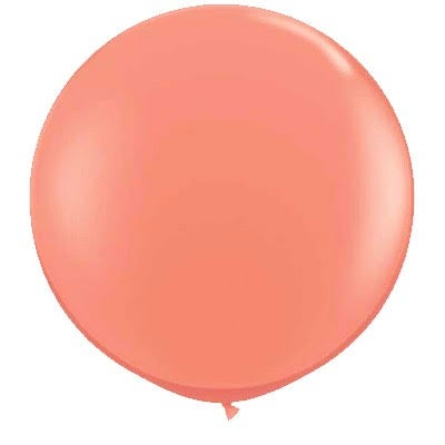 Image of Giant Round Balloons - Coral