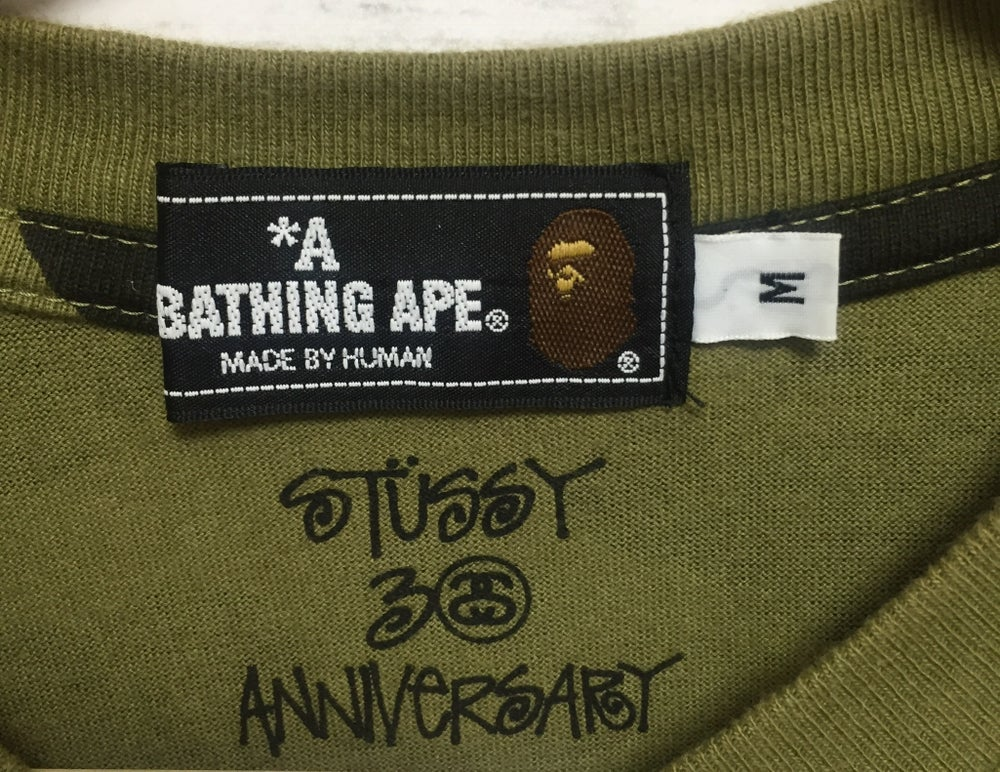 Image of BAPE x Stussy 30th Anniversary 1st Camo T-shirt