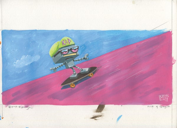 Skate Rad - Matt Q. Spangler Illustration