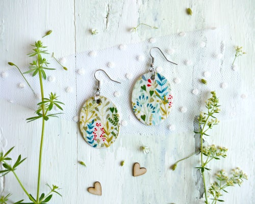 Image of Colorful nature earrings