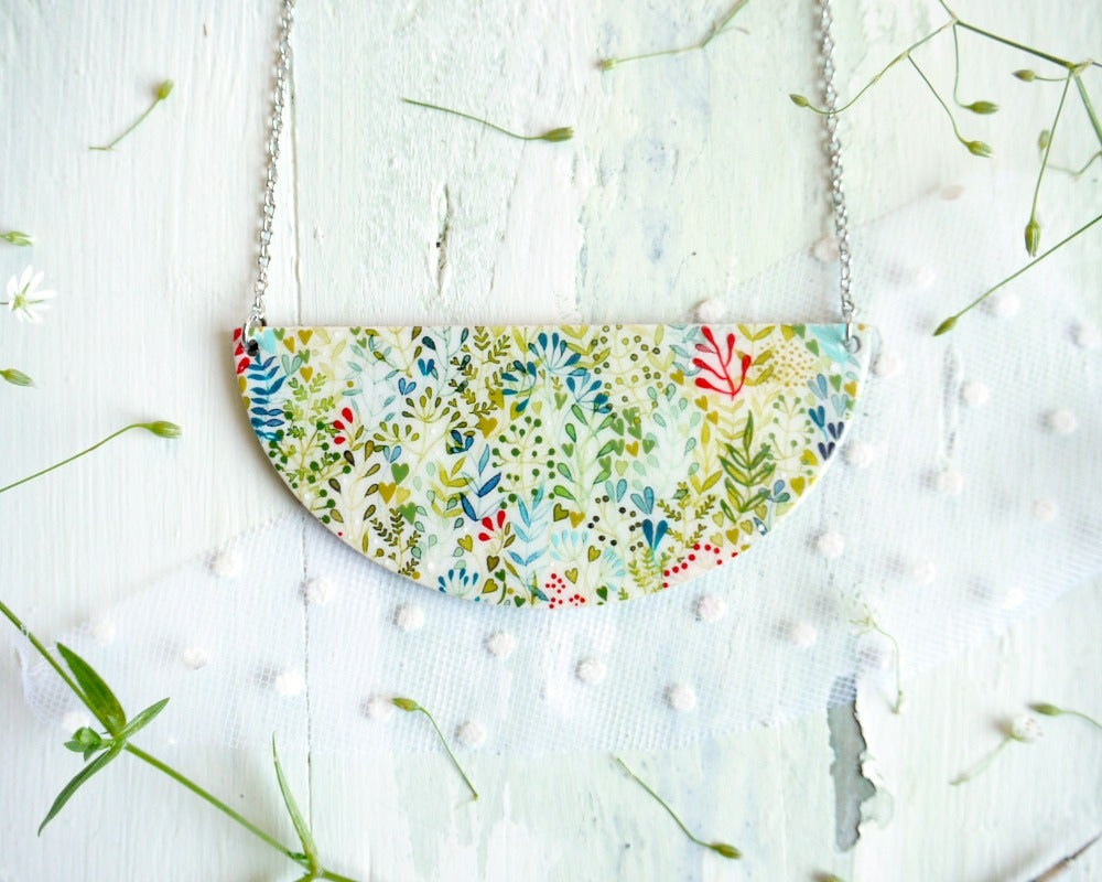 Image of  Colorful nature necklace