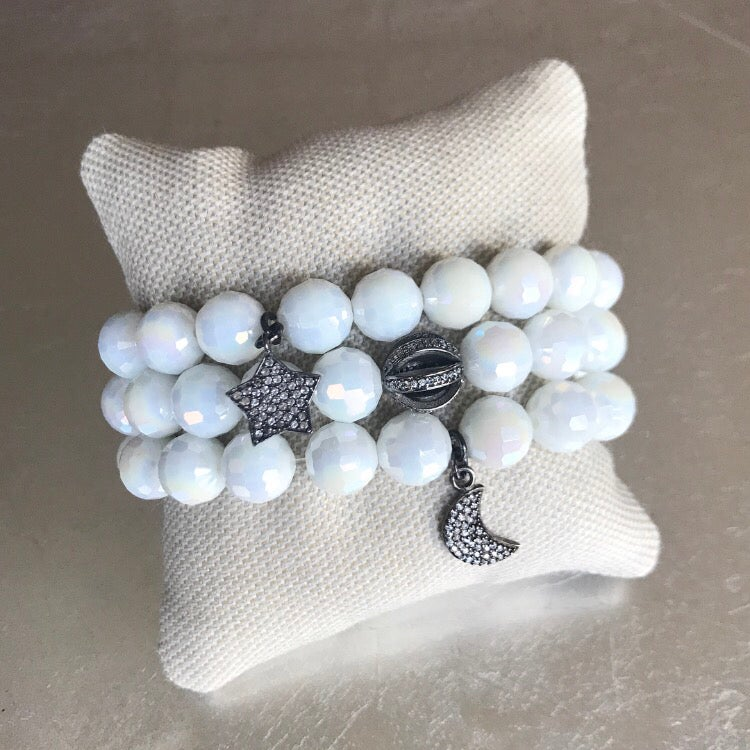 Image of Earth Moon and Star Bracelet