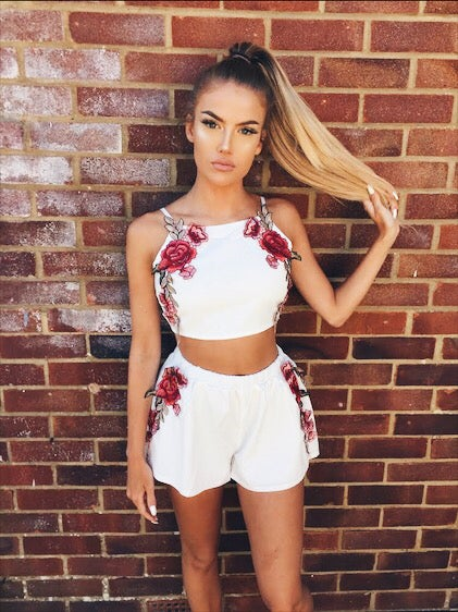 Image of Embroidered Rose Co-ord - was £̶3̶2̶.̶9̶9̶, £̶1̶9̶.̶9̶9̶  now £12.99