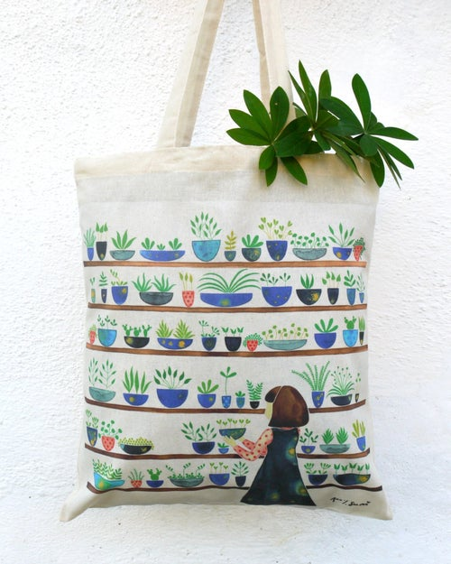 Image of Tote bag - She loves nature