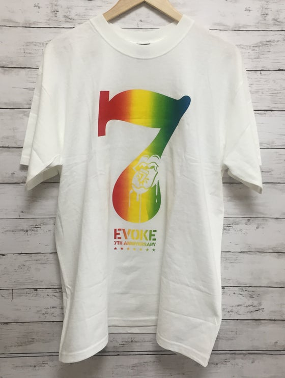 Image of EVOKE 7TH ANNIVERSARY COLLABORATION T-SHIRT  White