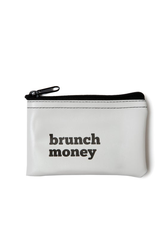 Image of Brunch Money vinyl zip pouch