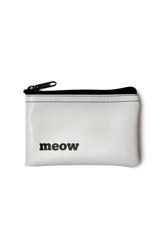 Image of Meow vinyl zip pouch