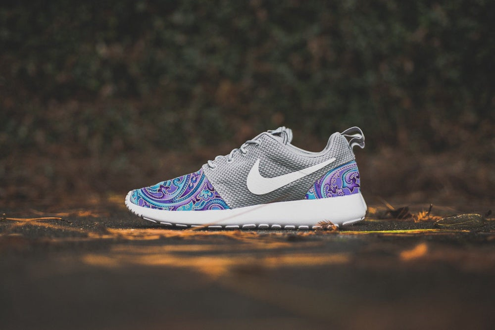 "Image of Custom Nike Roshe One ""Turquoise & Purple Paisley"""